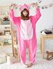 mens sleeping suit sexy animal pajamas pink stitch onesie