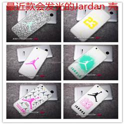 high quality luminous air jordan plastic transparent phone case for iphone 4 5s 6 6plus