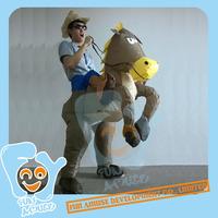 Inflatable Cow Boy horse costume MOQ 50pcs