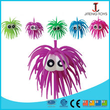 Professional Factory Sale Popular big eye puffer ball with hair
