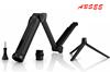 2015 3-Way Adjustable Hand Grip Pole monopod Camera Mount For GoPro