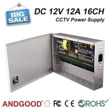 DC 12v 12amp 16 channels cctv power SIWD1212-16C