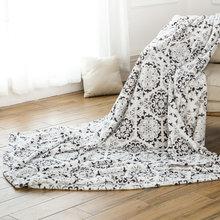 Fashion multifunction polyester sherpa blankets