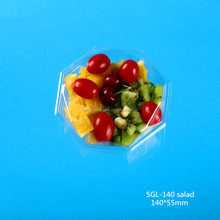 Popular disposable Plastic fresh-cut fruit packing box with clear lid