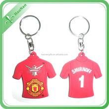 fashion cute T shirt customized silicone key chain