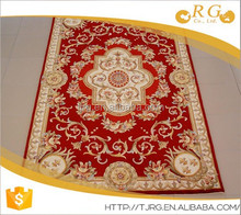 thin custom fashion soft 100% wool printed rug