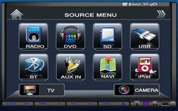 Popular Car dvd player with GPS TV BLUETOOTH