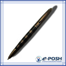 Chocoolate color quality electric engrave plating metal parker refill gift ball pen
