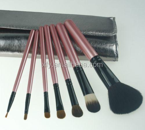 Newest 7pcs Pink Wood Handle