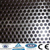 CE,TUV Certificated 3mm hole diameter 5mm pitch Galvanized Steel/Stainless Steel Perforated sheet