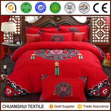 100% cotton 3d printed chinese classical style wedding bedding set
