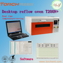Nitrogen lead-free reflow soldering machine for SMT with temperature tester