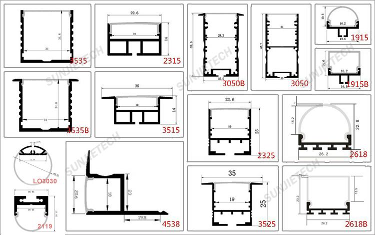 ip67 tanche en aluminium led profil pour led bandes pvc. Black Bedroom Furniture Sets. Home Design Ideas