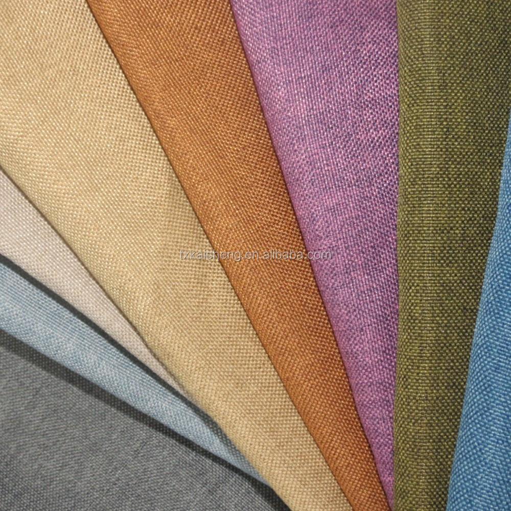 2015 Polyester Plain Linen Upholstery Sofa Fabric