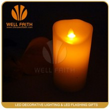 Led Moving Wick Candle,Ivory Flickering Flame Moving Wick Led Wax Candles for Festival Occassion and Wedding Decoration