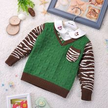 Children's clothing factory outlets 2014 autumn children's clothing newborn baby sweater V-neck sweater pullover sweater coat