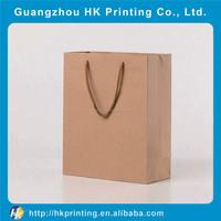 customized logo printing brown kraft paper bag