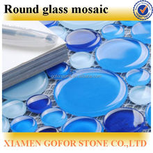 crystal glass mosaic, round glass mosaic tile