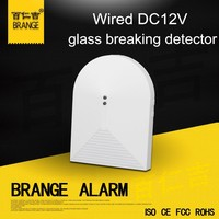 Export to United Kingdom Wired Glass Break Detector For Alarm System Window Glass Security DC12V