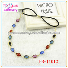 Hot sale new fashion Bohemian style iridescent stone head band for lady