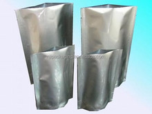 Standing up aluminum foil bag for widely using in packing