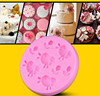 small sheep and sunflower fondant cake molds silicone rubber Nicole JSF139