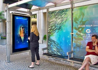 water-proof and dust proof 46 Inch Transparent Multi Touch Screen Foil Touch Through glass For Outdoor Kiosk