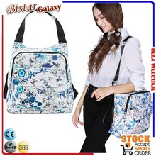 Genuine brand beautiful floral print PVC backpack bag for women, fashionable lady knapsack BSB101