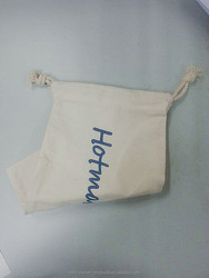 Recycled Material High quality Cotton Drawstring Shoe Bag