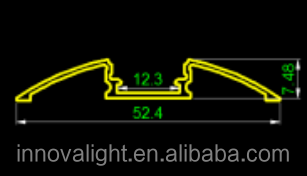 Innovalight современный дизайн 52 * 8 мм декоративные алюминиевый профиль для дома