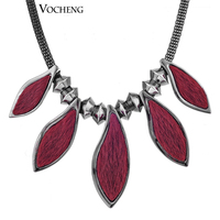 10pcs/lot Vintage Jewelry Women Necklace 2 Colors Plating Fashion Animal Wool Collar Necklace (Vf-141) Vocheng Free Shipping
