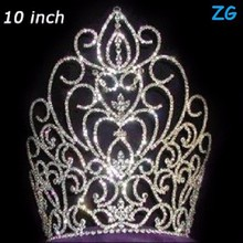 Fashion rhinestone large beauty pageant crowns, extract of crown of thorns, princess crown