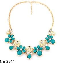 Metal flash diamond flower necklace diamond Rose necklace