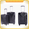 2015 fashionable PU leather travel luggage bag luxury design luggage trolley bag