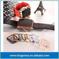 new pattern design Fashion leopard pattern Ultra thin PC protective case for apple watch 38mm 42mm with retail box