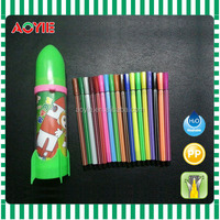 New unique and creative rocket style package of 18pcs felt tip color pen for children
