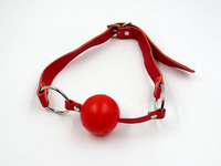 Red A Grade Plush Leather Open Mouth Gag Sex sex Bondage Fetish Women Toys Erotic Harness Gag Adult Games Sexy Toys For Couples