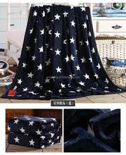 Good hand feeling china blankets popular price star design blankets flannel fleece blankets
