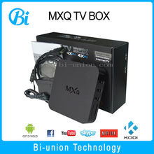 Smart Android TV Box MXQ Amlogic S805 Quad-Core Android 4.4 Google TV box accept OEM/ODM
