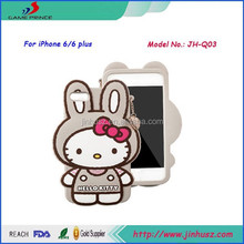 case for phone, for iphone 6 silicone case, Very Kawaii hello kitty 5 inch mobile phone case