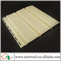 outdoor PVC wall panels plastic wall covering for eave roof of the house