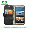 Wholesale free shipping lychee pattern leather wallet waterproof case for htc one m9