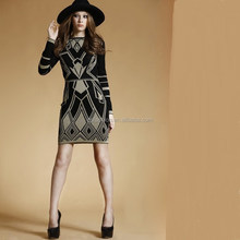 Alibaba latest fashion knitted dresse design European dress woman 2015