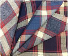 100% Cotton Yarn Dyed Enzyme/Lignt/Bleach Washing Stripe/Check/Plaid Shirting Fabric
