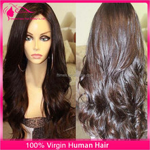 Full Swiss Lace Human Hair wig with silk top