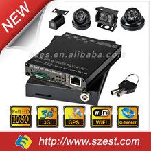 2014 China DVR Manufacturer 4-channel / dual camera 3G WIFI G-Sensor HD Car DVR
