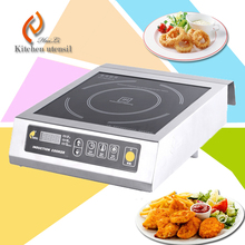 Hotel restaurant 304 stainless steel Commercial induction cooker with PCB board induction wok hot sale