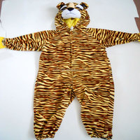 Yangzhou toy factory supply lovely tiger shaped animal mascot costumes for kids