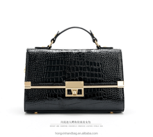 2015 New product in china fashion leather woman custom branded handbag