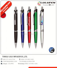 sterling metal promotional pen; ballpoint pen-on-a-rope; plastic ball pen with stylus
